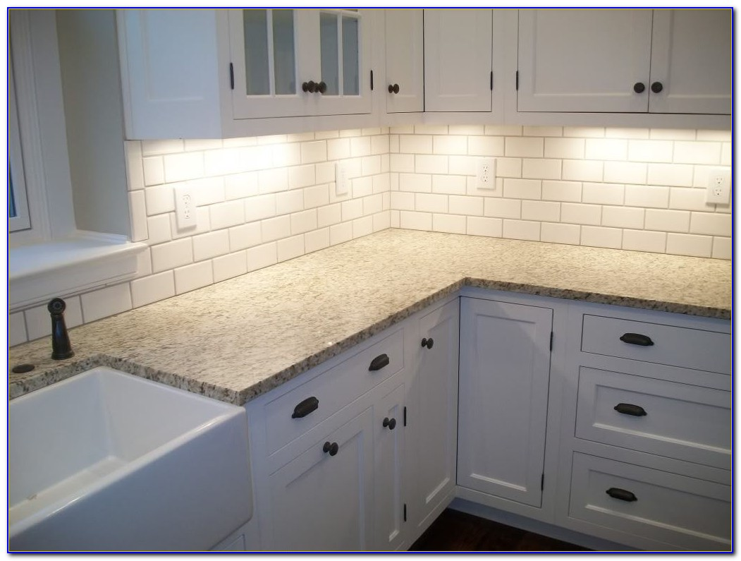 Matte White Beveled Subway Tile