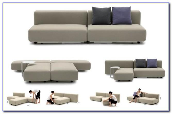 Modern Duke Sectional Sofa Bed