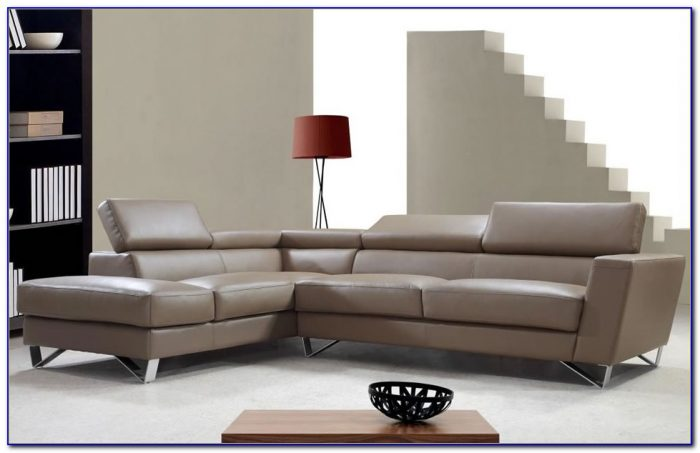 Mustard Fabric White Leatherette Modern Sectional Sofa Bed