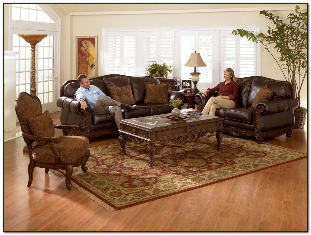 North Shore Dark Brown Sofa Set