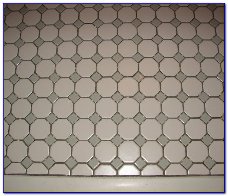 Octagon And Dot Floor Tile