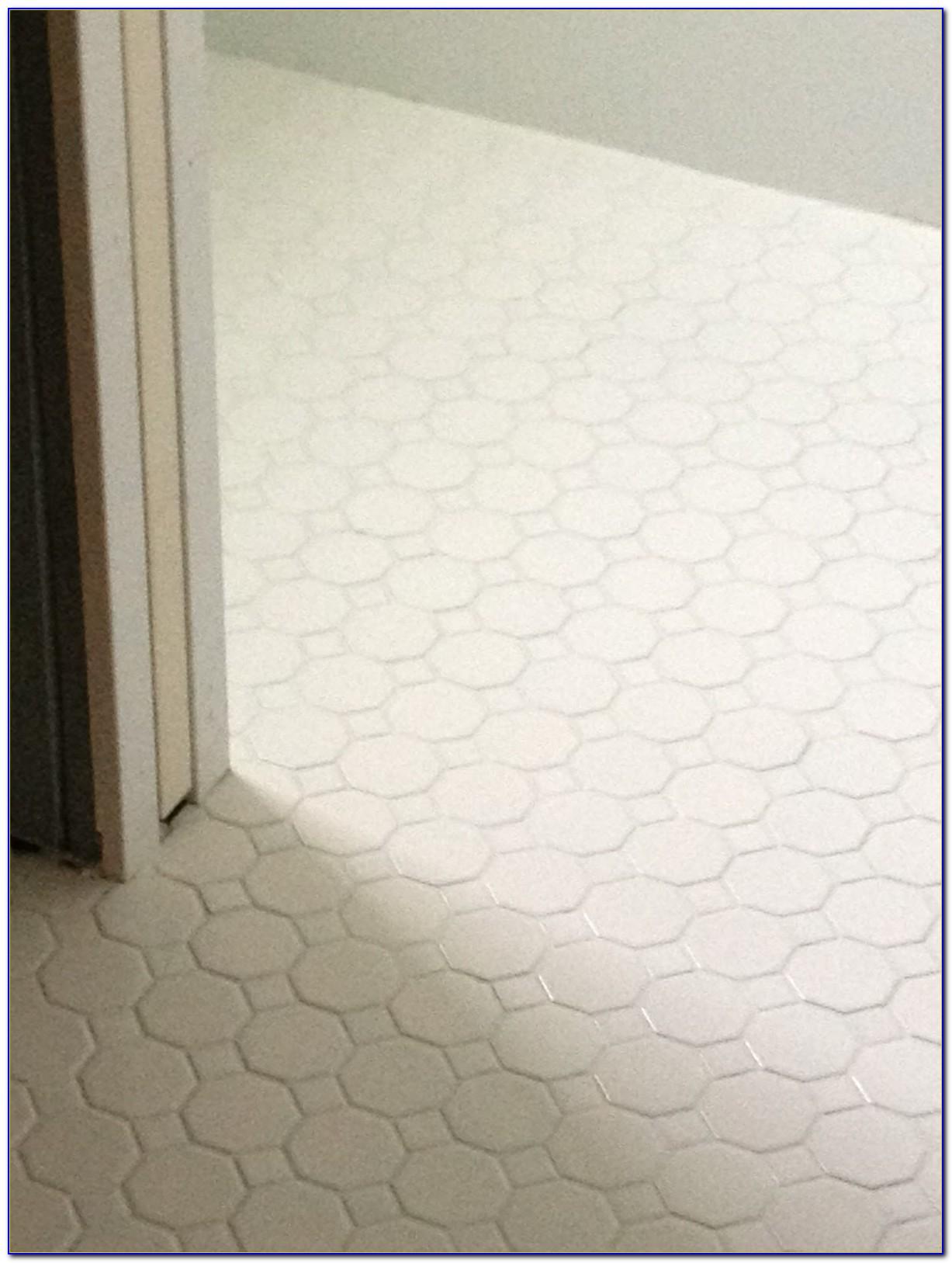 Octagon And Dot Tile Bathroom