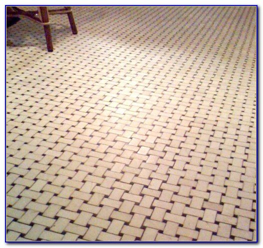 Porcelain Tile In Basket Weave Pattern
