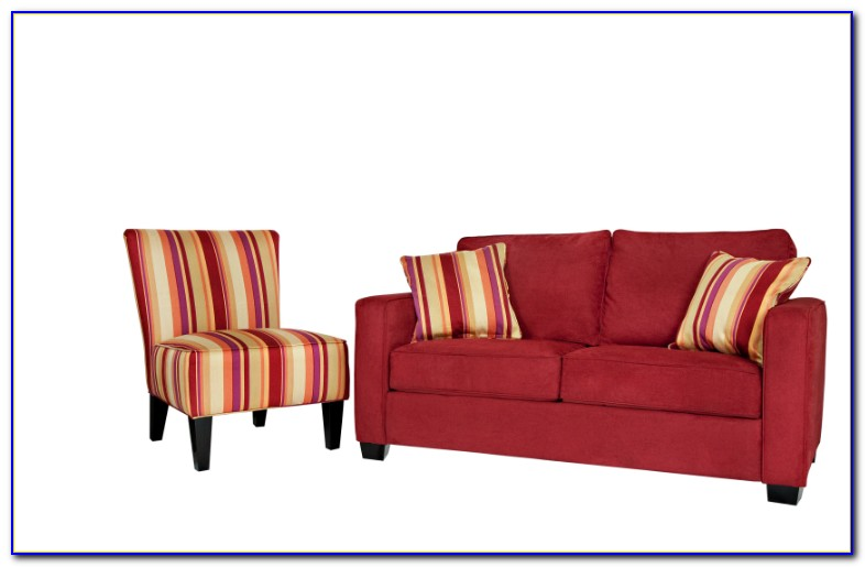 Red Reclining Sofa And Loveseat