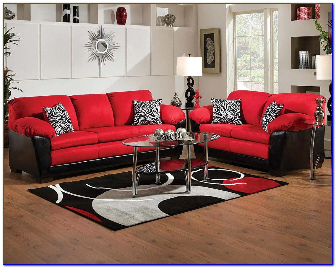 Red Sofa And Loveseat Covers