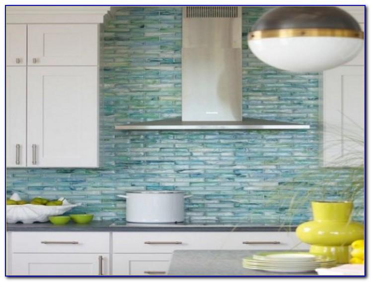 Sea Green Glass Tile Backsplash