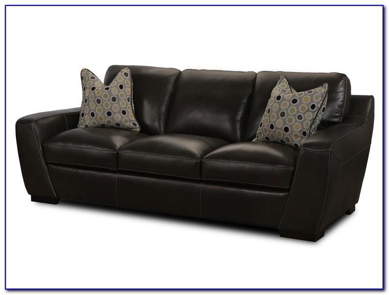 Simon Li Leather Sofa In Amarillo Walnut