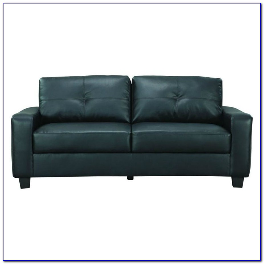 Small Faux Leather Sectional Sofa