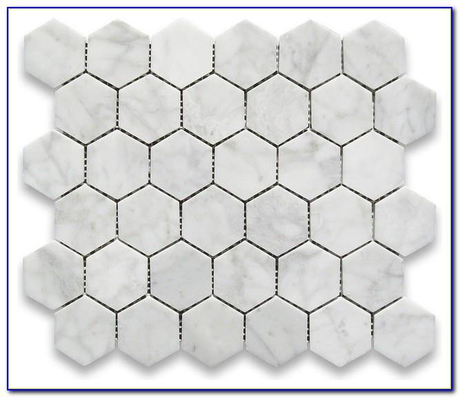 Statuary Carrara Marble Hexagon Tile White Gray Honed