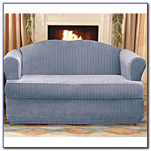 Sure Fit Stretch Leather 2 Piece T Cushion Sofa Slipcover