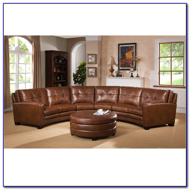 Top Grain Italian Leather Sectional Sofa