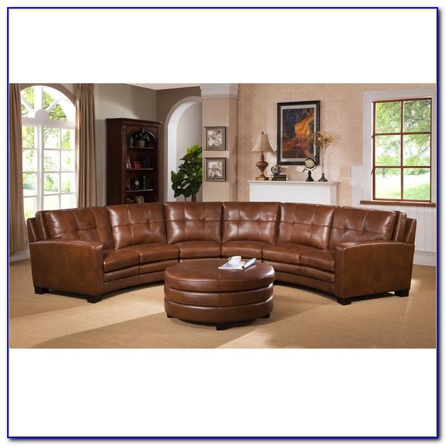 Top Grain Italian Leather Sectional Sofa