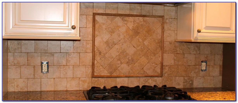 Tumbled Marble Mosaic Tile Backsplash