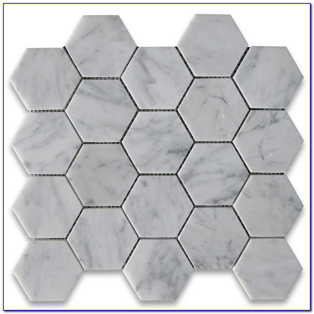 White Carrara Marble Hexagon Tiles Uk