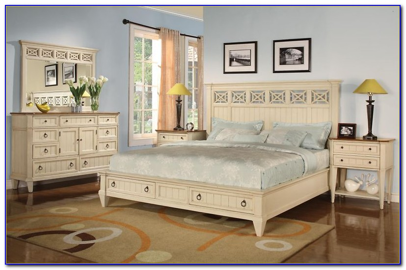White King Size Bedroom Furniture Sets