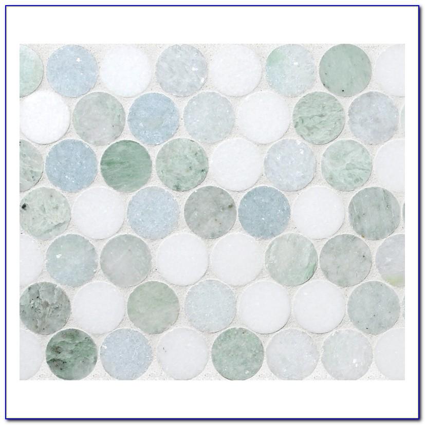 White Penny Round Mosaic Tile
