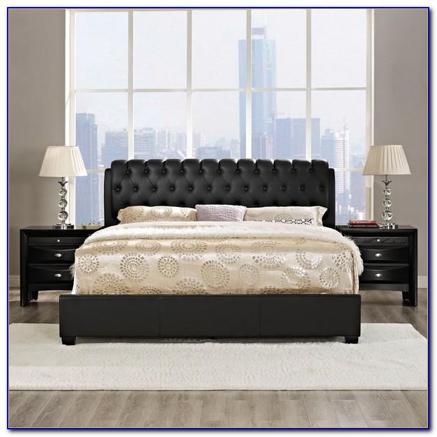 3 Piece Bedroom Furniture Set Black