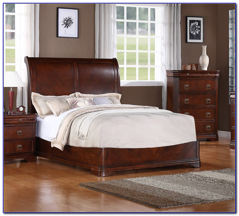 Antique Cherry Wood Bedroom Set
