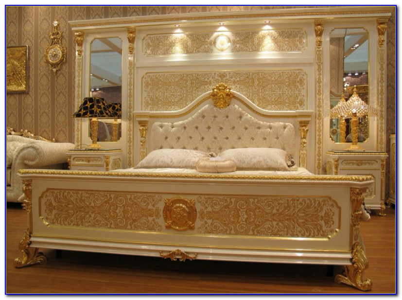 Antique White And Gold Bedroom Furniture