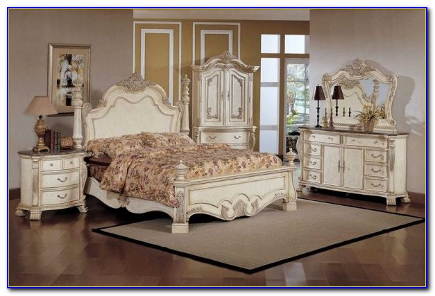 Antique White Bedroom Furniture Decorating Ideas