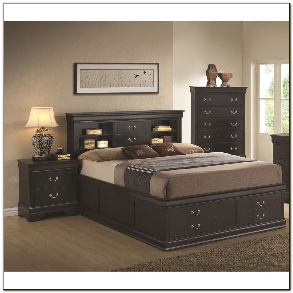 Black And White 3 Piece Bedroom Furniture Set