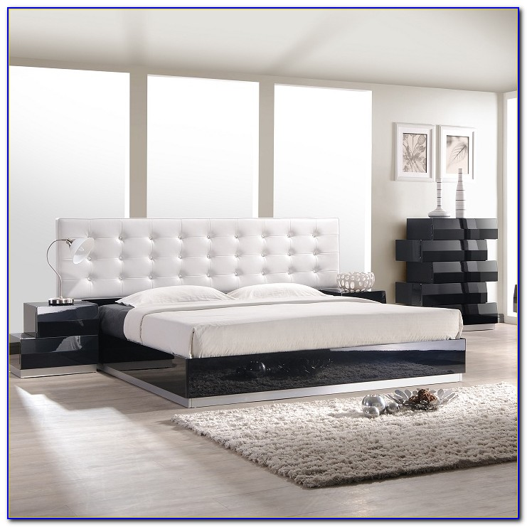 Black Lacquer And Chrome Bedroom Furniture