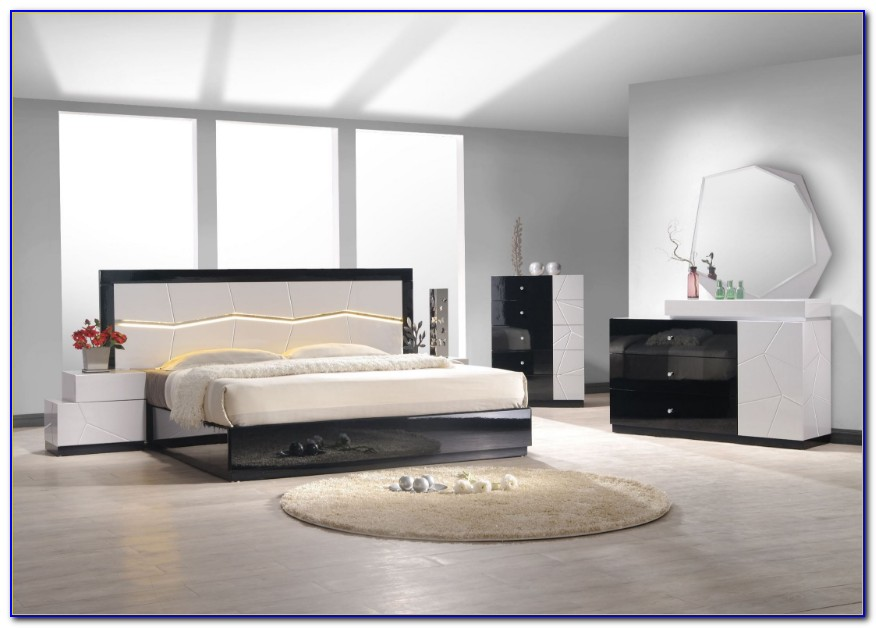Black Lacquer Asian Bedroom Furniture