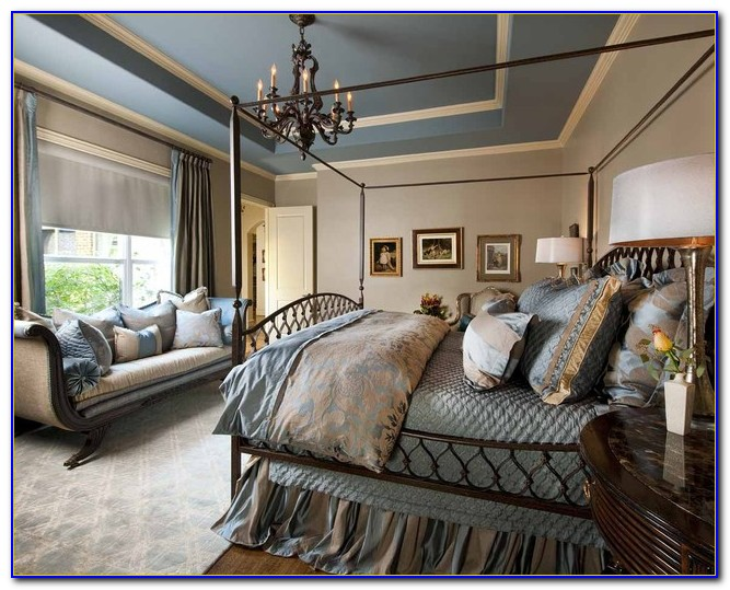 Blue And Beige Master Bedroom