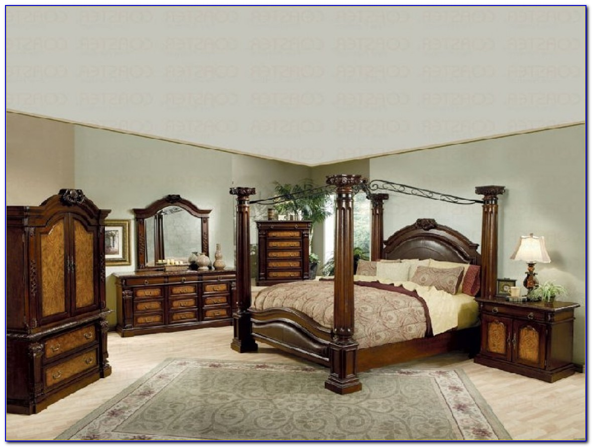 California King Canopy Bedroom Sets