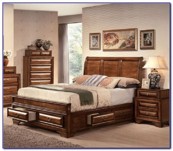 California King Size Sleigh Bedroom Sets