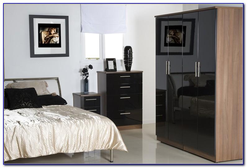 Contemporary Black Lacquer Bedroom Furniture
