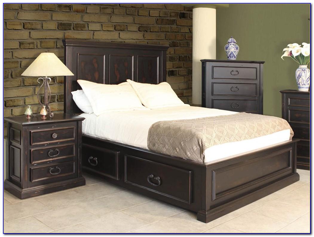 Dark Brown Wooden Bedroom Furniture