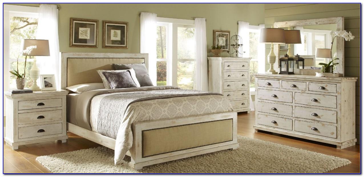 Distressed Antique White Bedroom Furniture