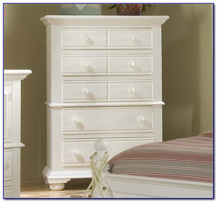 Distressed White Bedroom Furniture Set