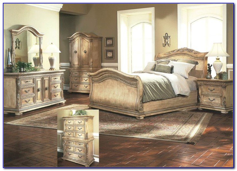 Distressed White Bedroom Sets