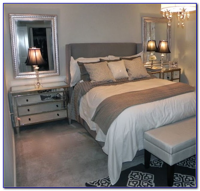 Gray And Color Bedroom