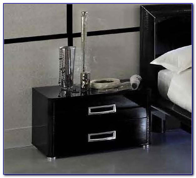 Italian Black Lacquer Bedroom Furniture