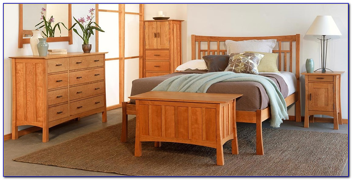Mission Style Oak Bedroom Set
