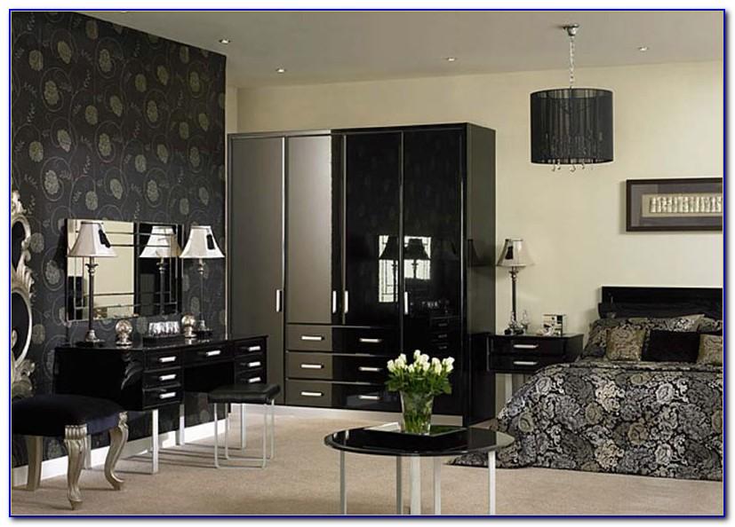Modern Black Lacquer Bedroom Furniture