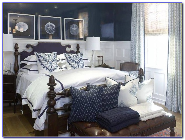 Navy Blue And Grey Bedroom