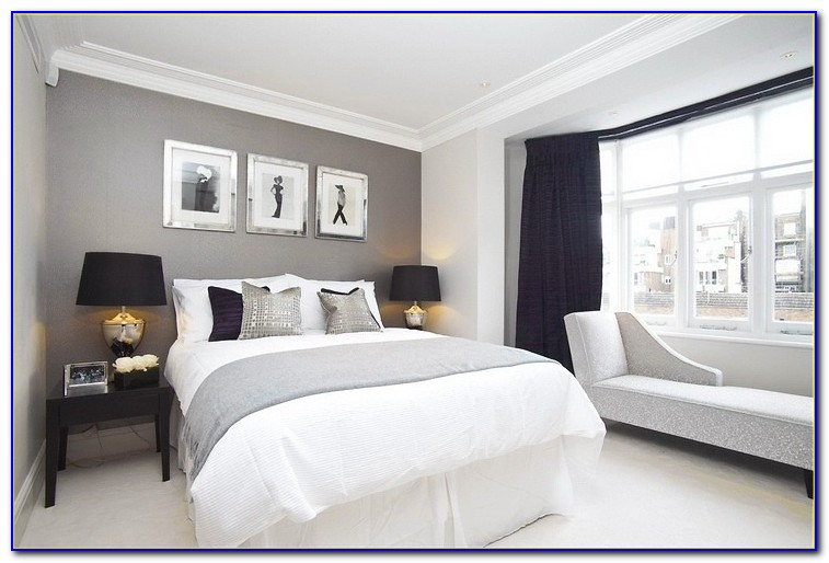 Navy Yellow And Gray Bedroom