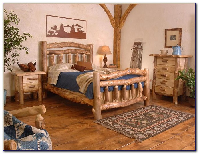 Pine Log Bedroom Furniture Sets