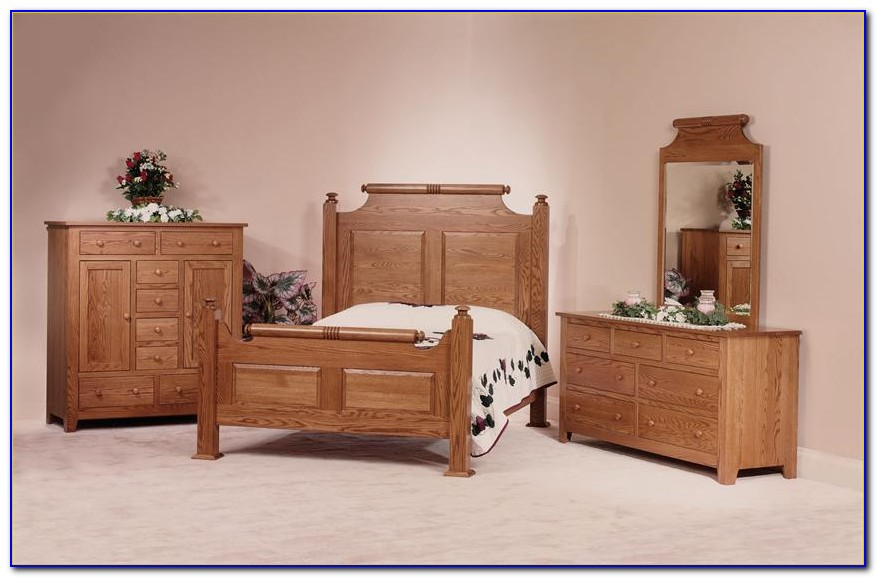 Solid Oak Bedroom Furniture Used