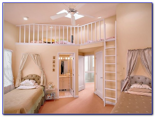 Teenage Girl Bedroom Ideas With Bunk Beds