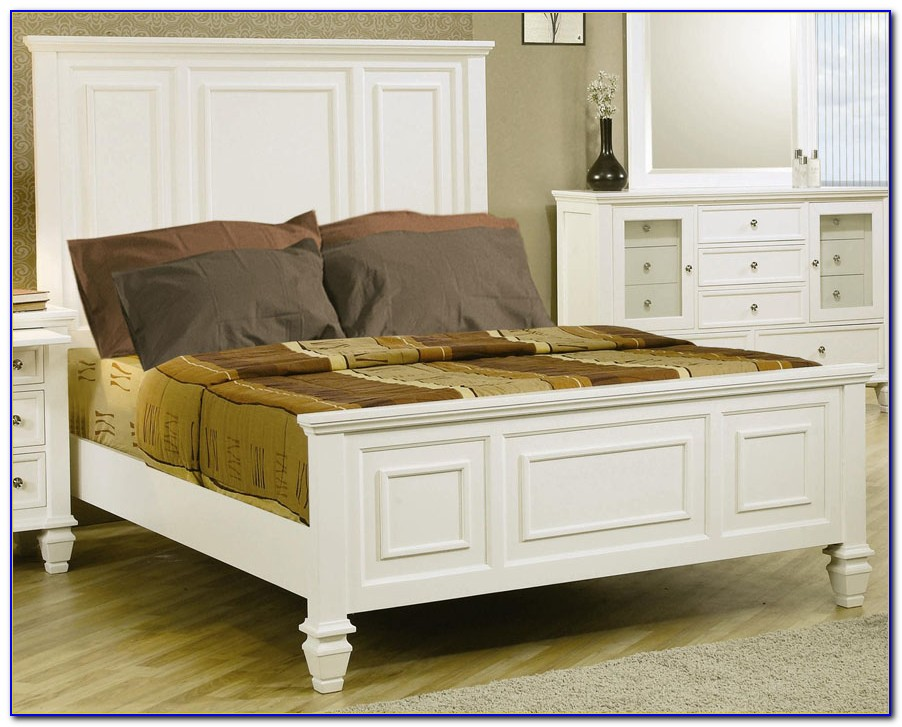 White California King Bedroom Set