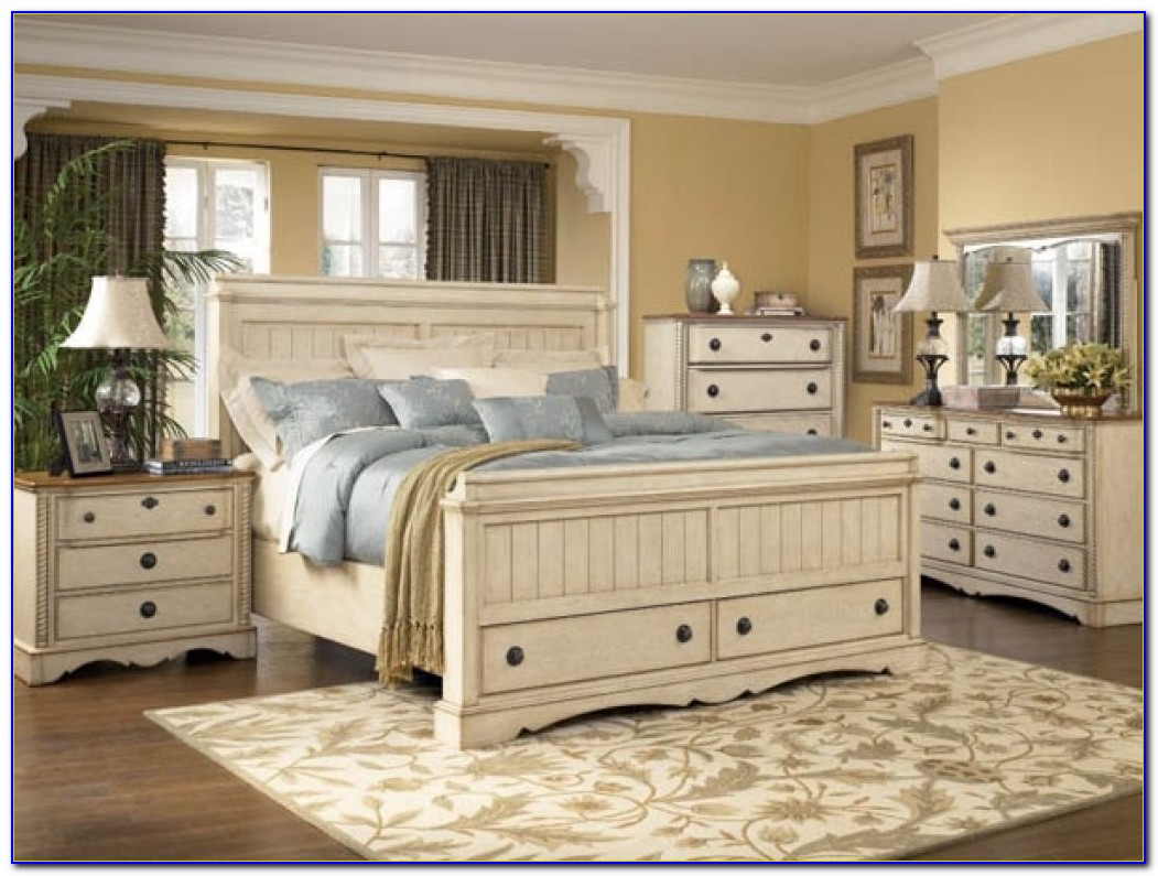 White Country Style Bedroom Furniture