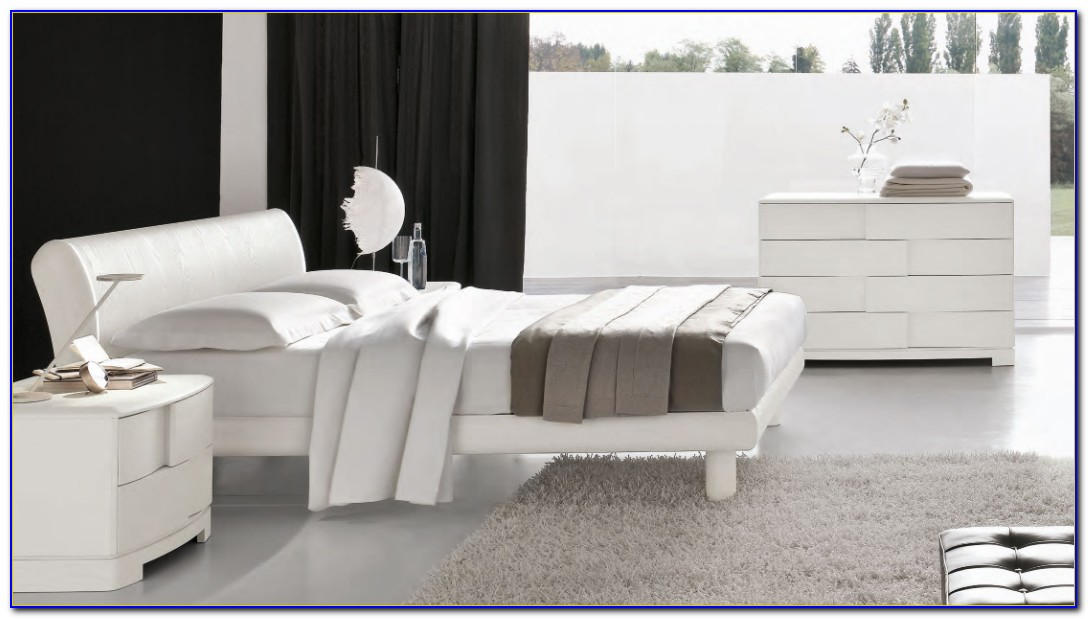 White Gloss Contemporary Bedroom Furniture