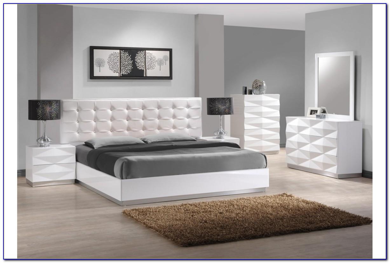 White Wicker King Size Bedroom Set