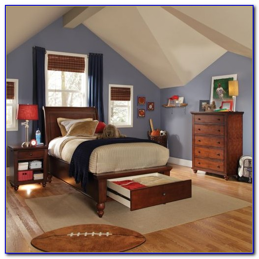 3 Piece White Twin Bedroom Set