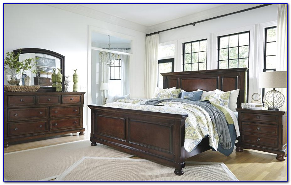 Ashley King Poster Bedroom Set